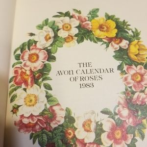 1983 AVON CALENDER OF ROSES BOOK NEW